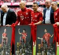 Robben y Ribery en su despedida.