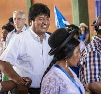 BOLIVIA.- El presidente de Bolivia encabeza la intención de voto con un 38%, seguido de Carlos Mesa. Foto: AFP