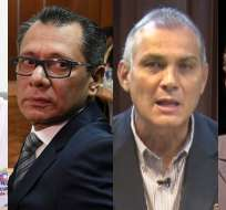 ECUADOR.- Este lunes deben rendir su versión los exmandatarios Rafael Correa y Jorge Glas. Collage: Ecuavisa
