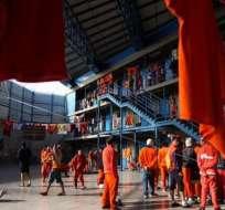 El último crimen dejó dos reos muertos en la Penitenciaría del Litoral. Foto: Twitter