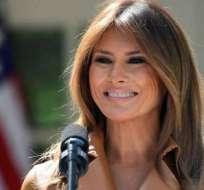 Melania Trump lució el vestido más costoso del momento. Foto: AP - Referencial