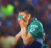 Mena llora por su lesión.