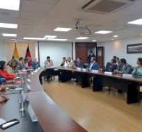 Asambleístas por Pichincha se reunieron con el alcalde Yunda. Foto: Fausto Terán