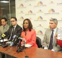 QUITO, Ecuador.- Para Mae Montaño, es necesario aclarar qué pasó con las pruebas de VIH. Foto: Asamblea