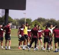 Selección venezolana en una práctica.