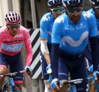 El español Samuel Sánchez aseguró que el ecuatoriano tiene todo para vencer. Foto: LUK BENIES / AFP