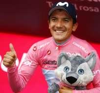 El ecuatoriano amplió la ventaja en el liderato del Giro de Italia 2019. Foto: LUK BENIES / AFP