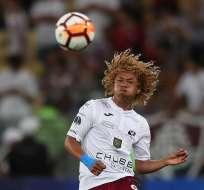 Carlos Cuero, en su paso por el Deportivo Cuenca.
