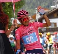 El ciclista ecuatoriano cumplió 26 años este miércoles. Foto: Luk BENIES / AFP