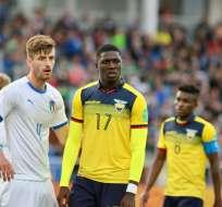 El delantero ecuatoriano sufrió el recrudecimiento de una vieja lesión. Foto: Tomada de http://www.ecuafutbol.org