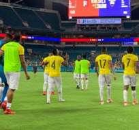Jugadores de Ecuador previo al partido en Miami. Foto Twitter FEF.