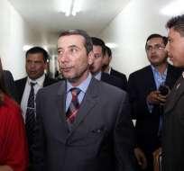 Alexis Mera y María de los Ángeles Duarte, indagados por el mismo tema, fueron detenidos el viernes. Foto: elciudadano.gob.ec