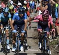 El ecuatoriano habló previo a su participación en la última etapa del Giro de Italia. Foto: Fabio FERRARI / POOL / AFP