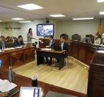QUITO, Ecuavisa.- Canciller José Valencia y demandantes presentaron sus argumentos en audiencia pública. Foto: API