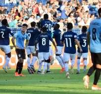 La 'Tricolor' remontó a Uruguay para lograr el triunfo por 3-1. Foto: Tomada de @FEFecuador