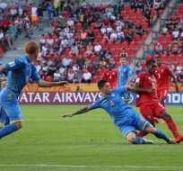 Los centroamericanos perdieron 4-1 ante Ucrania. Foto: Tomada de @fepafut