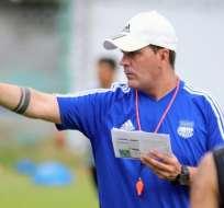 Ismael Rescalvo, entrenador de Emelec.