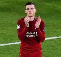 Robertson ha disputado dos finales de Champions League con el Liverpool.