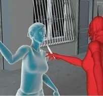 Mujer desfigurada en enfrentamiento entre mujeres. Foto: Captura de video