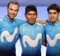 Alejandro Valverde, Nairo Quintana y Mikel Landa, son los nombres elegidos, por la empresa telefónica.