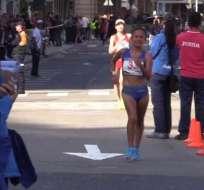 La atleta ecuatoriana participó en los 20 km y obtuvo marca mínima para JJ.OO. Tokio 2020. Foto: Cortesía