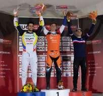 El ciclista ecuatoriano participa en la categoría Supercross. Foto: Tomada de @alfredocampov