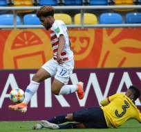 El jugador y el fisioterapista de la selección ecuatoriana sub-20 hablaron sobre su estado. Foto: ALIK KEPLICZ / AFP