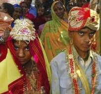 De acuerdo con Unicef, alrededor del mundo el número de matrimonios infantiles de ambos sexos se ubica en unos 765 millones.