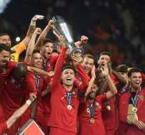 Los 'lusos' vencieron 1-0 a Holanda en la final del torneo. Foto: PATRICIA DE MELO MOREIRA / AFP