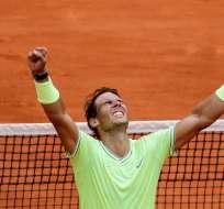 El español venció en la final a Dominic Thiem en 4 sets. Foto: Thomas SAMSON / AFP