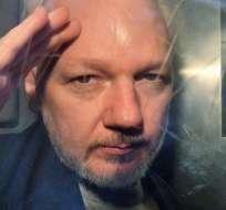 Assange fue entregado a las autoridades británica en abril pasado. Foto: AFP