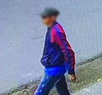 Primera imagen del sospechoso de sicariato en Babahoyo. Foto: Twitter