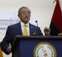 QUITO, Ecuador.- El ministro enfatizó que el apoyo de EE.UU. no incluye la instalación de una base militar. Foto: API