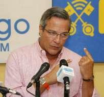 GUAYAQUIL, Ecuador.- El exfuncionario aclara cada una de las acusaciones del actual prefecto del Guayas. Foto: Archivo