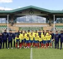 La 'Minitri' juega a las 13:30 ante Corea del Sur por las semifinales del Mundial sub-20. Foto: Tomada de @FEFecuador