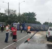 Los heridos fueron atendidos en el sitio. Foto: Cortesía