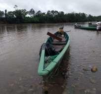 Un muerto tras operativo militar en Sucumbíos. Foto: Twitter