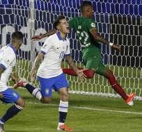La 'Canarinha' venció por 3-0 a Bolivia en el estadio Morumbí. Foto: MIGUEL SCHINCARIOL / AFP