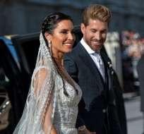 Ramos y su esposa durante su matrimonio.