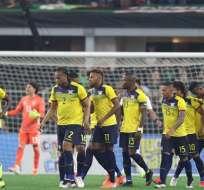 Partido amistoso de Ecuador ante México.