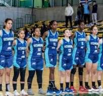 Jugadoras de la selección de Basket juvenil.