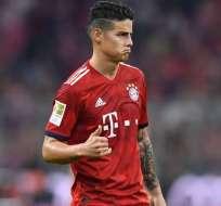 James Rodríguez, figura del Bayern Munich.