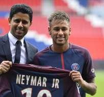 Neymar fue presentado en el PSG en 2017.