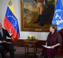 El segundo día de visita a Venezuela está marcado por protestas. Foto: AFP