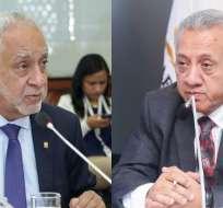 ECUADOR.- Ministro Pérez (i) revela que legisladores le piden cargos; Fernando Flores enfrenta denuncia. Collage: Ecuavisa