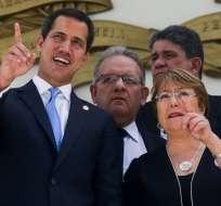"Bachelet impulsa liberación de ""presos políticos"" en Venezuela. Foto: AFP"