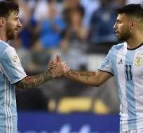Lionel Messi y Sergio Aguero, figuras de Argentina.
