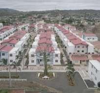 JIPIJAPA, Ecuador.- Cuatro millones de dólares fueron invertidos en esta urbanización. Foto: Secom
