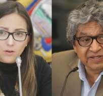 ECUADOR.- Ambas autoridades se despidieron de sus colaboradores. Se desconoce sus reemplazos. Collage: Ecuavisa