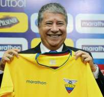 Hernán Darío Gómez, entrenador de la selección de Ecuador.